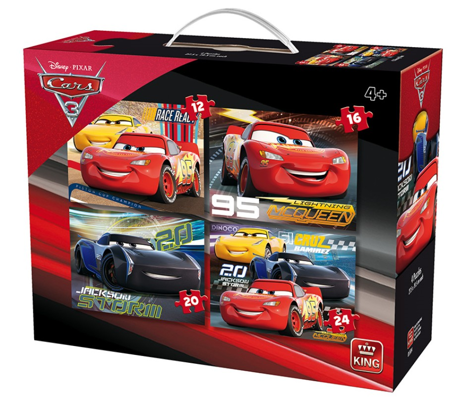 king-international-4-puzzles-cars-3-12-teile-puzzle-king-puzzle-05504