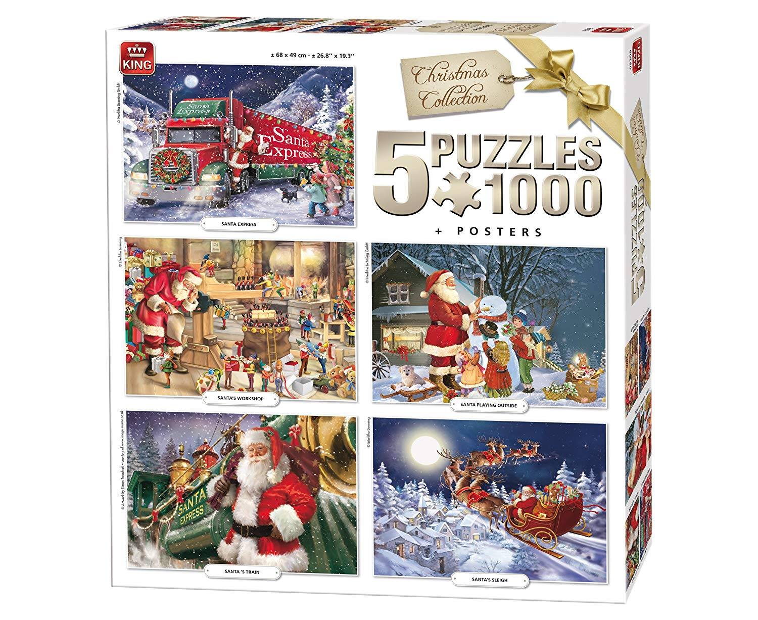 king-international-5-puzzles-weihnachten-1000-teile-puzzle-king-puzzle-05219