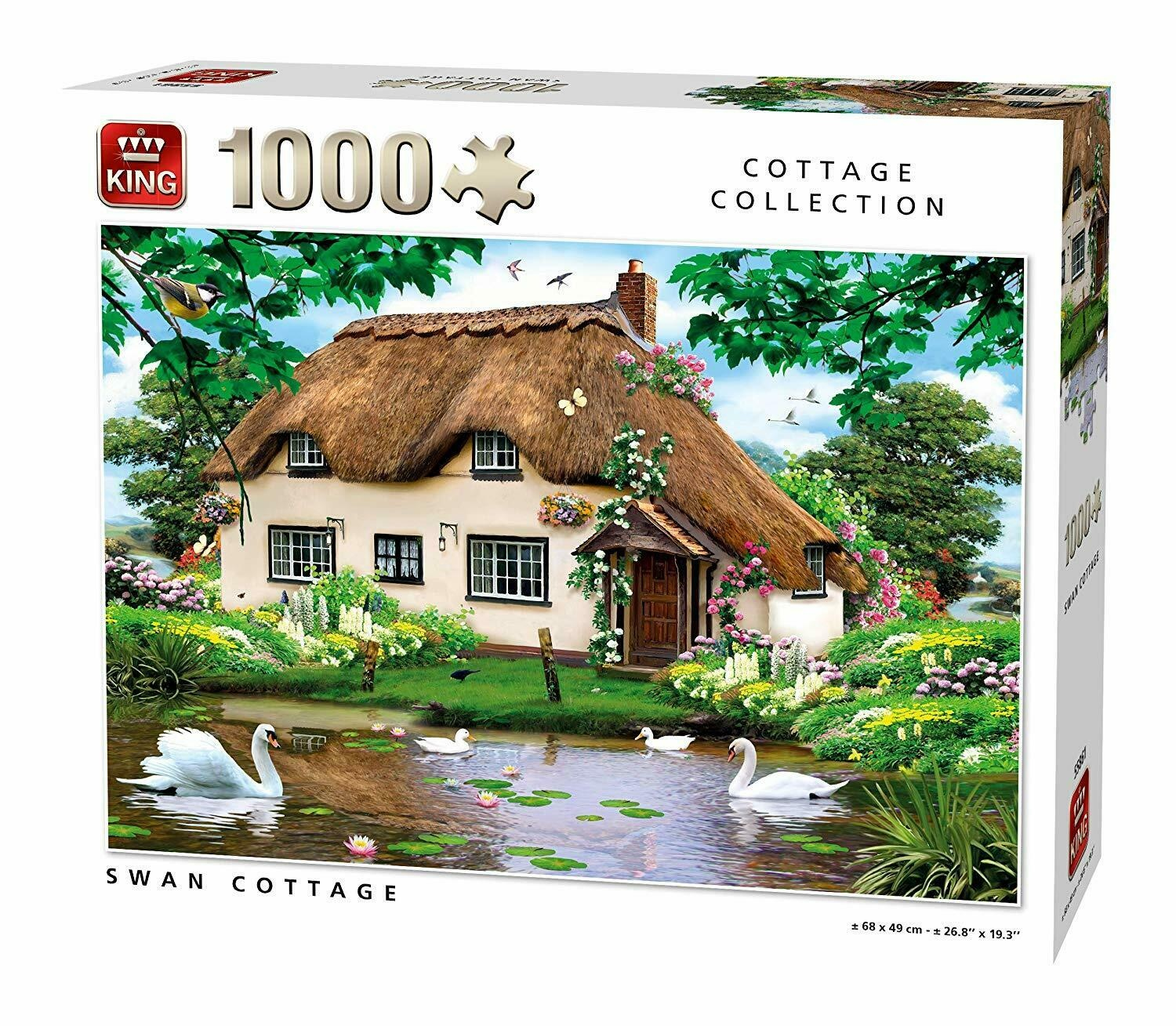 king-international-swan-cottage-1000-teile-puzzle-king-puzzle-55861