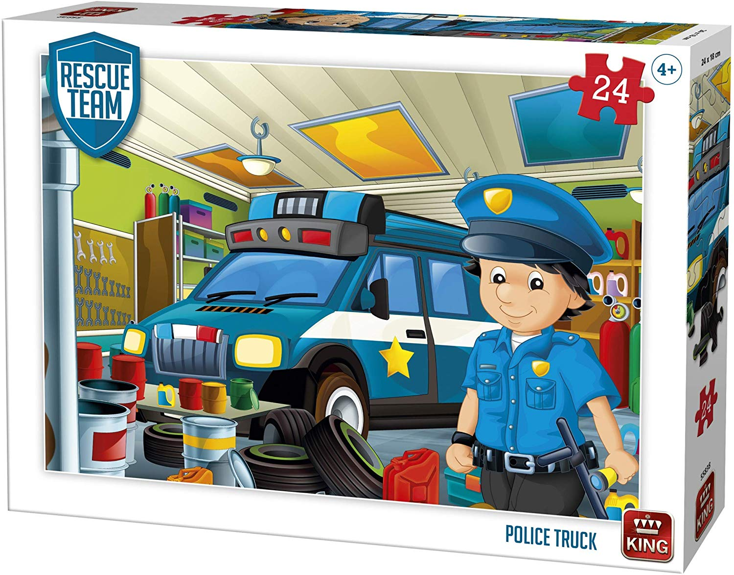 king-international-rescue-team-police-truck-24-teile-puzzle-king-puzzle-55838