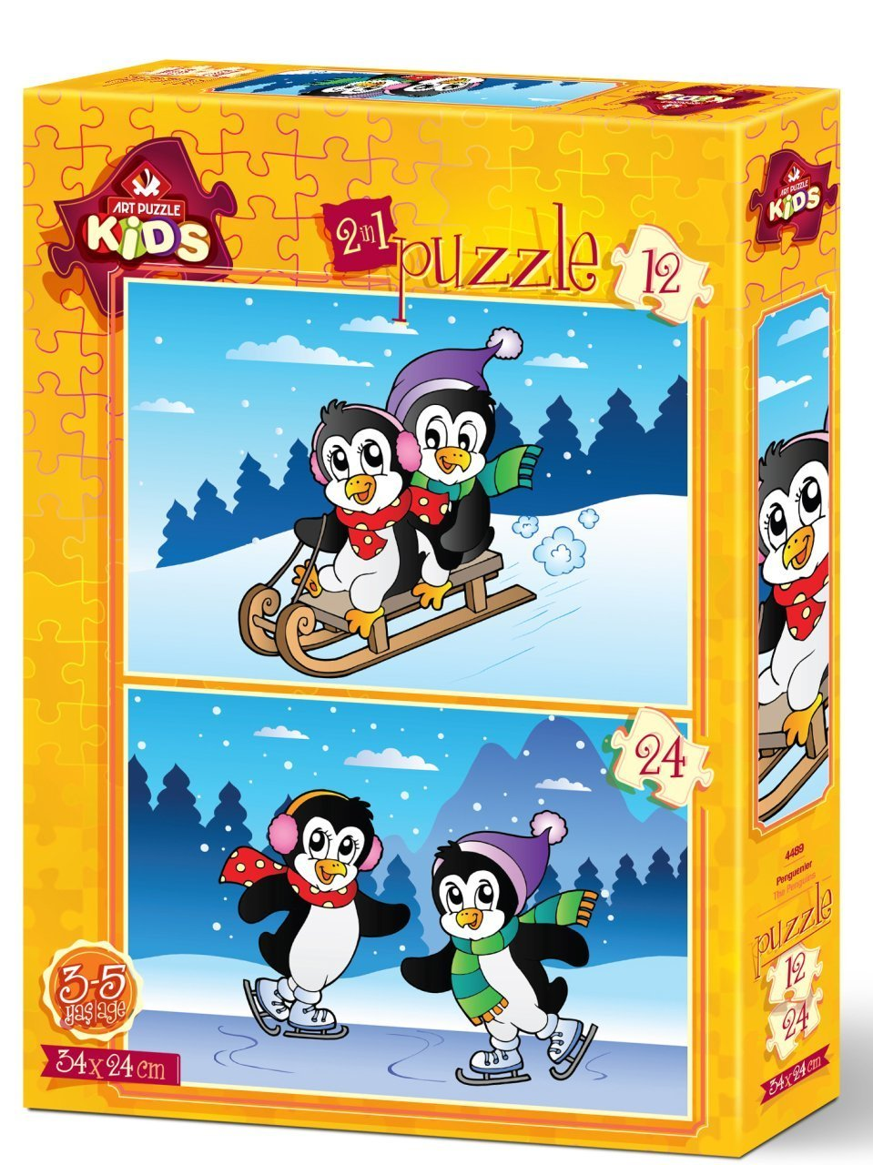 Art Puzzle 2 Puzzles - The Penguins 12 Teile Puzzle Art-Puzzle-4489