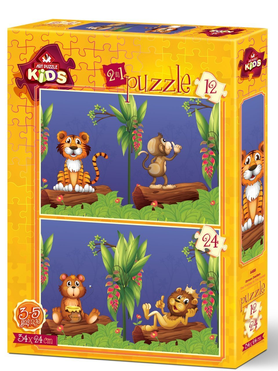 Art Puzzle 2 Puzzles - The Friends in The Forest 12 Teile Puzzle Art-Puzzle-4488