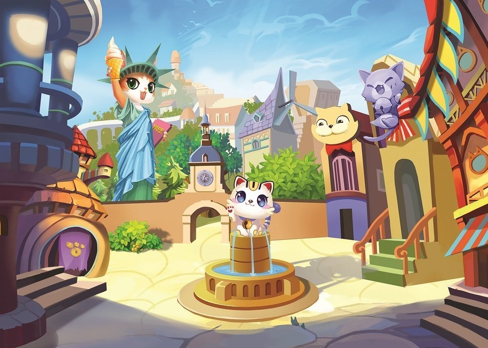 Art Puzzle The Kitty Town 100 Teile Puzzle Art-Puzzle-4507