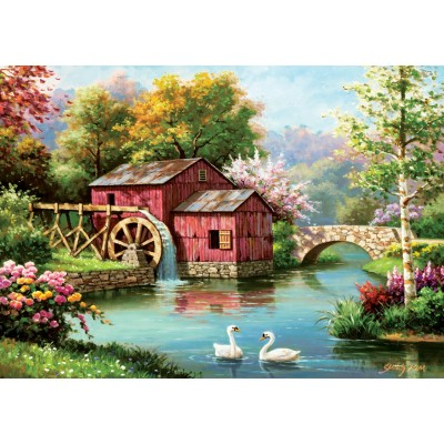 Ausgefallenkreatives - Art Puzzle Red Old Mill 1000 Teile Puzzle Art Puzzle 5188 - Onlineshop Puzzle.de