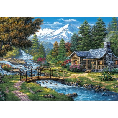 Ausgefallenkreatives - Art Puzzle Two Small Waterfalls 2000 Teile Puzzle Art Puzzle 5471 - Onlineshop Puzzle.de