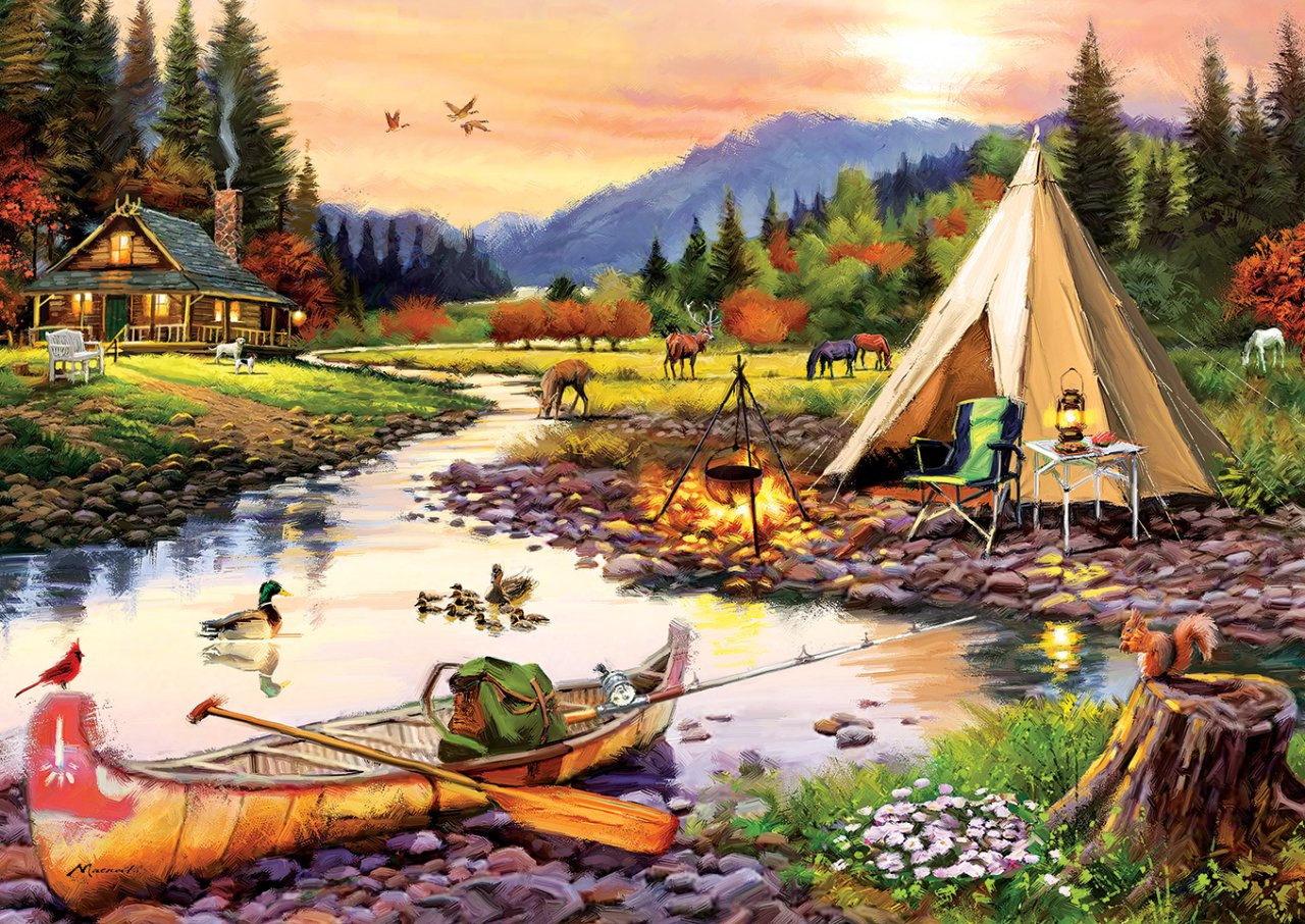 Puzzle 3000 Teile - Camping