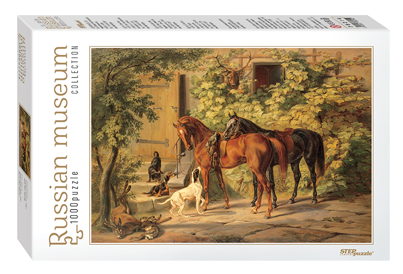 step-puzzle-russian-museum-adam-albrecht-horses-at-the-porch-1000-teile-puzzle-step-puzzle-79214