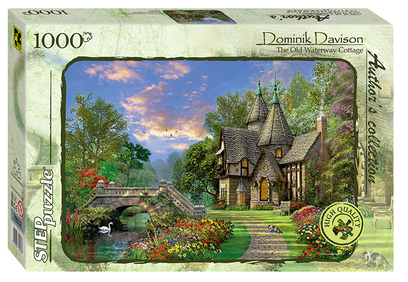 step-puzzle-dominic-davison-the-old-waterway-cottage-1000-teile-puzzle-step-puzzle-79532
