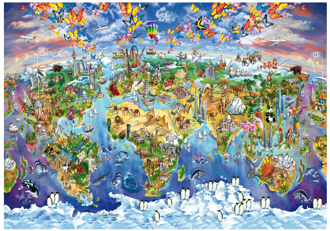 wentworth-holzpuzzle-world-wonders-250-teile-puzzle-wentworth-702513