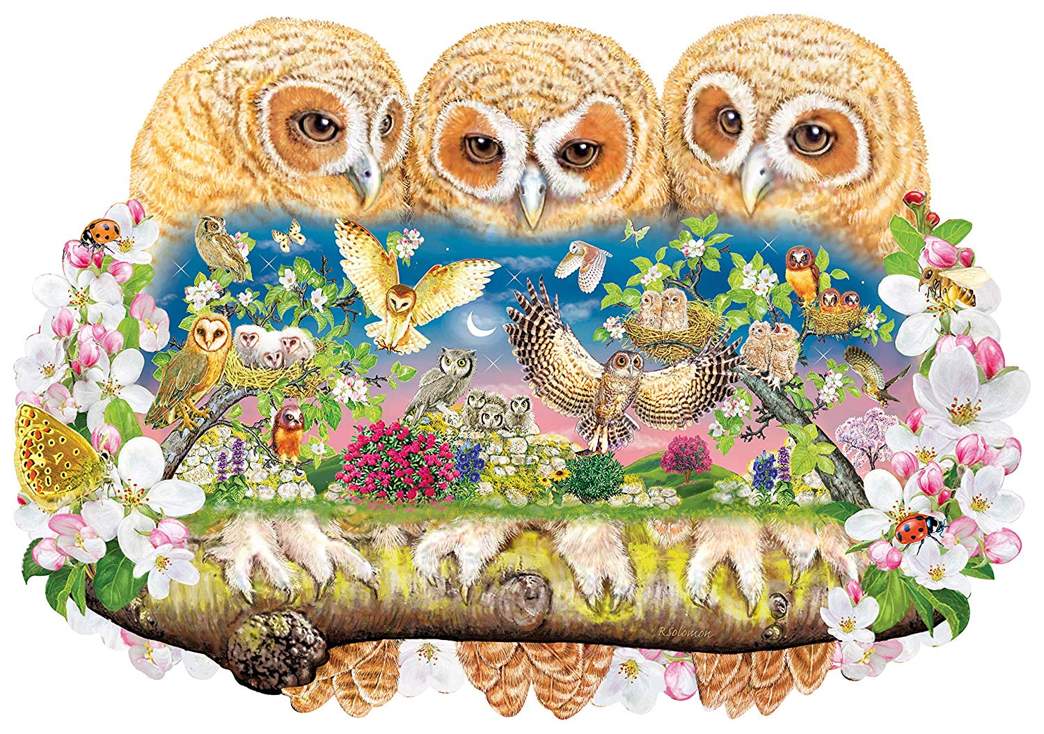 wentworth-holzpuzzle-owlets-in-the-moonlight-250-teile-puzzle-wentworth-840106, 49.95 EUR @ puzzle-de