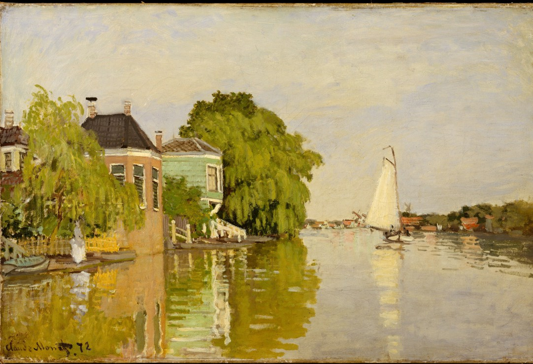 grafika-kids-xxl-teile-claude-monet-houses-on-the-achterzaan-1871-12-teile-puzzle-grafika-kids-0