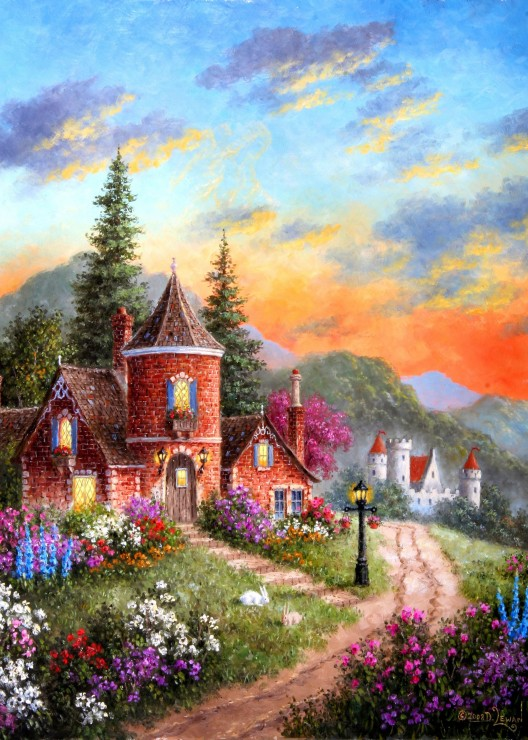 grafika-kids-dennis-lewan-castle-ridge-manor-24-teile-puzzle-grafika-kids-01903
