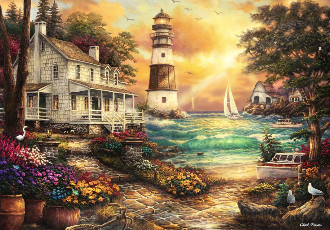 grafika-kids-chuck-pinson-cottage-by-the-sea-100-teile-puzzle-grafika-kids-02004