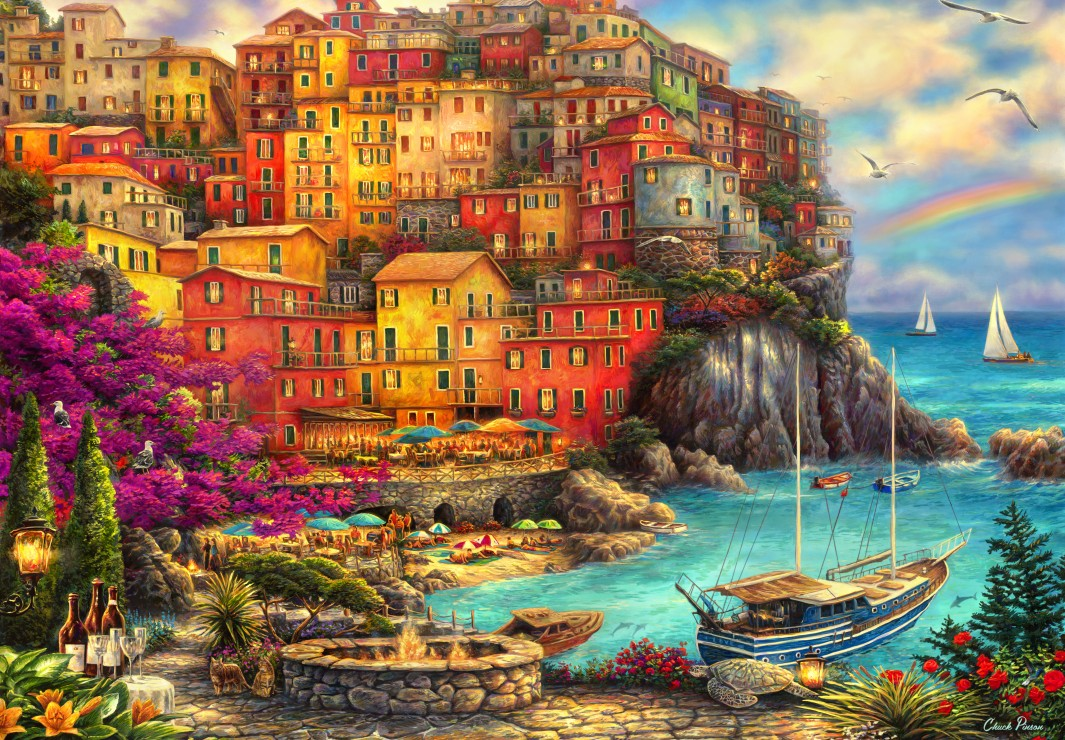 grafika-kids-chuck-pinson-a-beautiful-day-at-cinque-terre-100-teile-puzzle-grafika-kids-02105