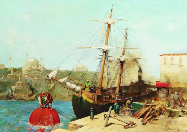 gold-puzzle-alberto-pasini-by-the-golden-horn-1000-teile-puzzle-gold-puzzle-60751