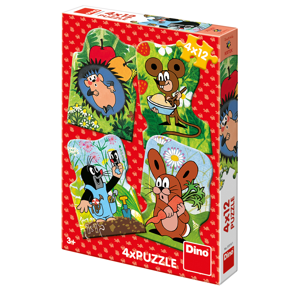 dino-4-puzzles-der-maulwurf-12-teile-puzzle-dino-33316