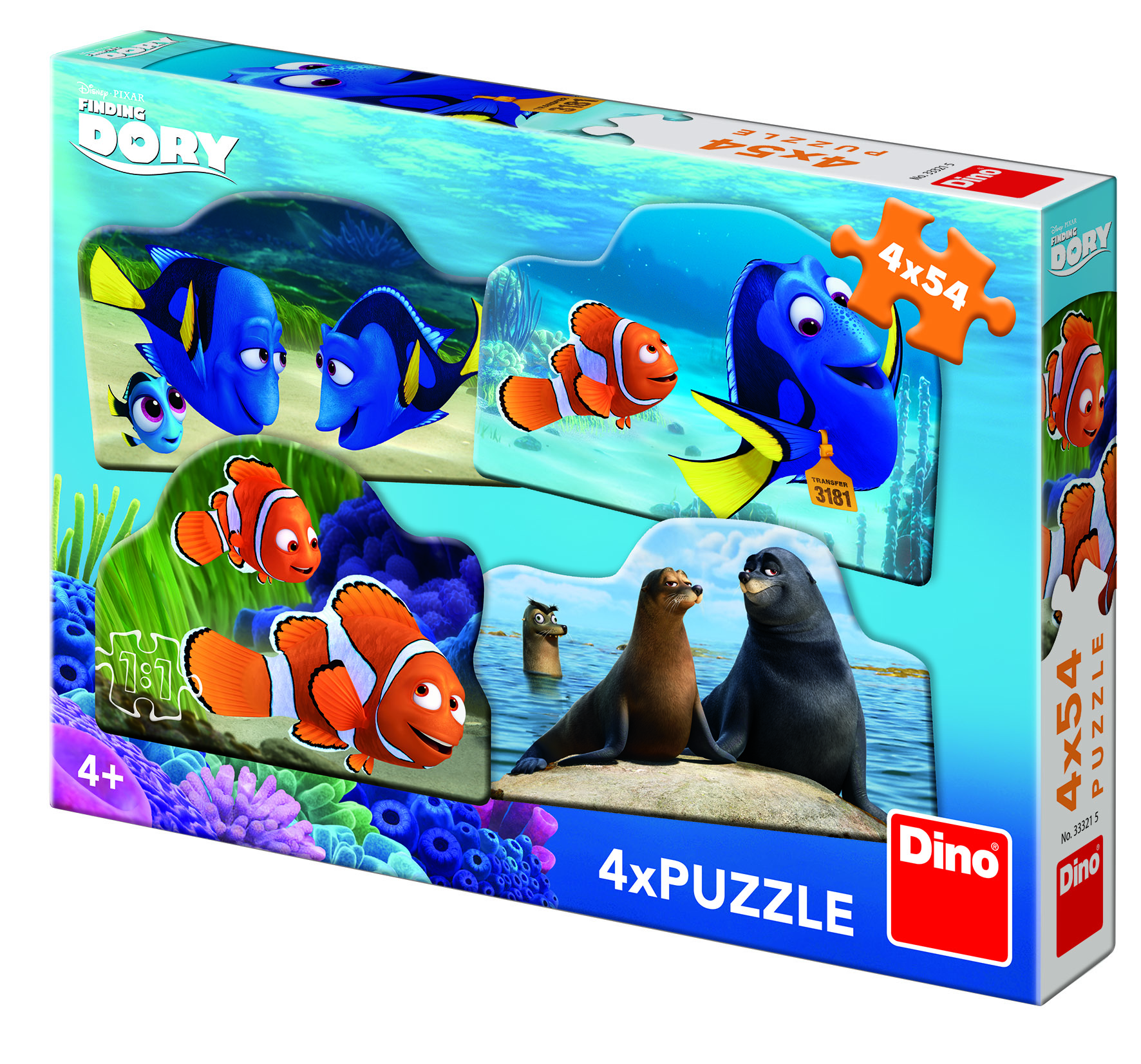 dino-4-puzzles-finding-dory-54-teile-puzzle-dino-33321
