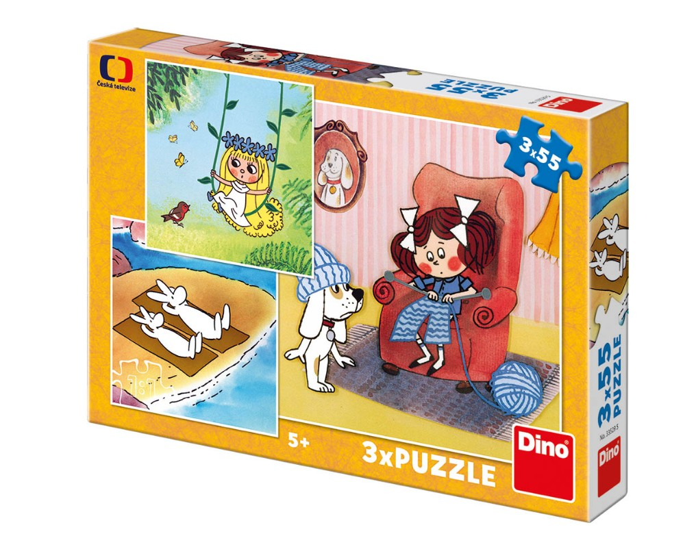 dino-3-puzzles-fairy-tales-55-teile-puzzle-dino-33529