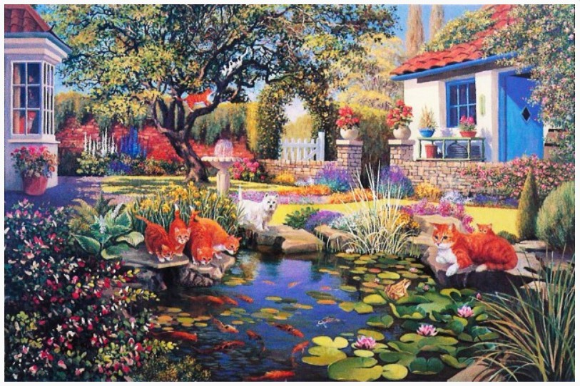 the-house-of-puzzles-garden-pond-1000-teile-puzzle-the-house-of-puzzles-1479