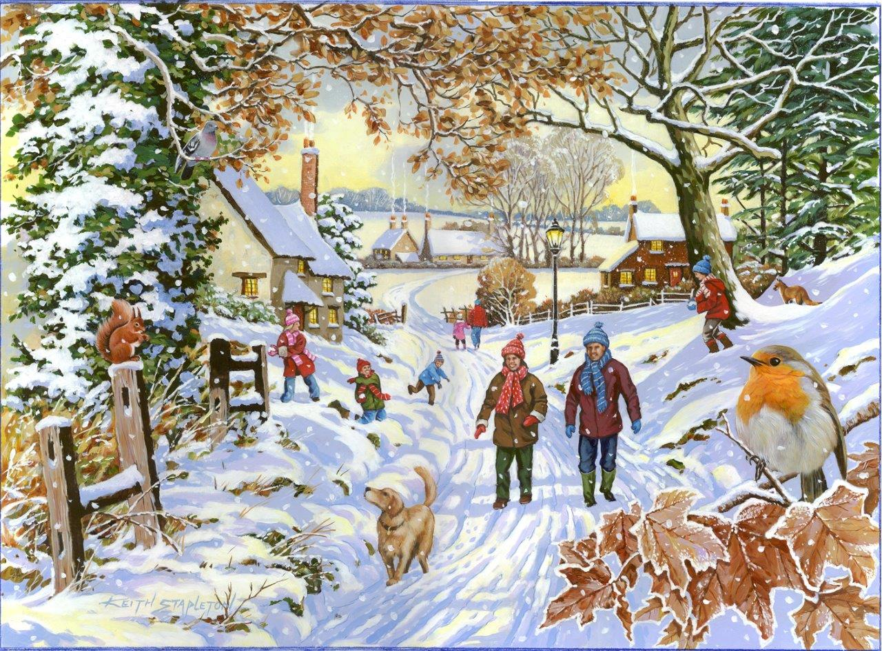 the-house-of-puzzles-xxl-teile-snowy-walk-500-teile-puzzle-the-house-of-puzzles-4388