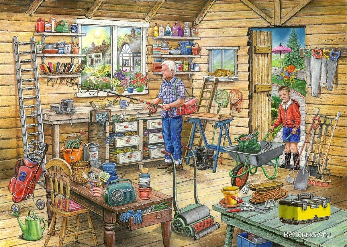 the-house-of-puzzles-find-the-differences-no-14-freds-shed-1000-teile-puzzle-the-house-of-puzzles-