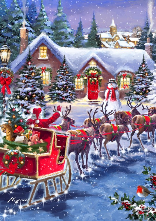 bluebird-puzzle-santa-and-sleigh-1000-teile-puzzle-bluebird-puzzle-70073