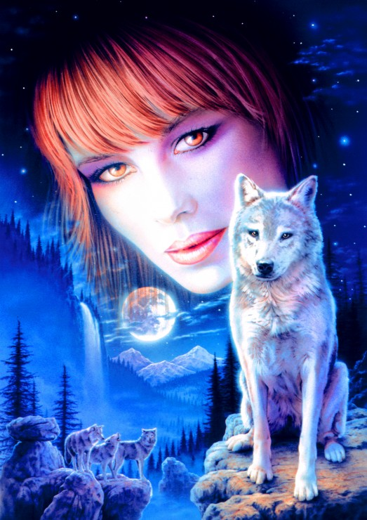 Bluebird Puzzle Wolf Girl 1000 Teile Puzzle Bluebird-Puzzle-70133