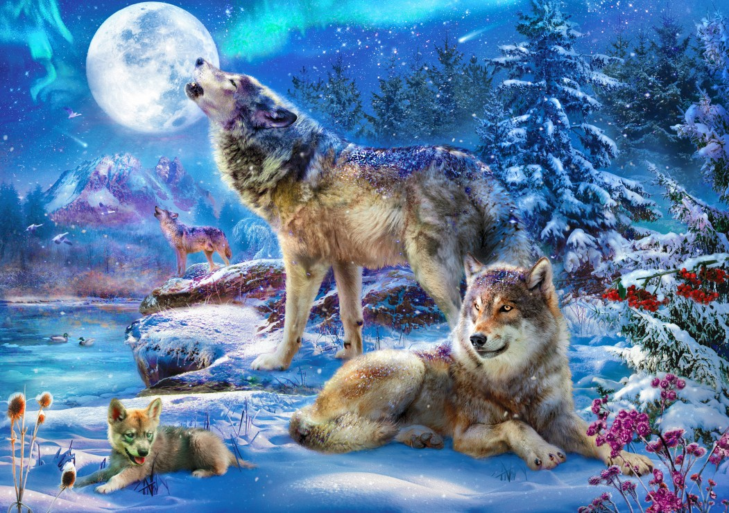 Bluebird Puzzle Winter Wolf Family 1500 Teile Puzzle Bluebird-Puzzle-70147