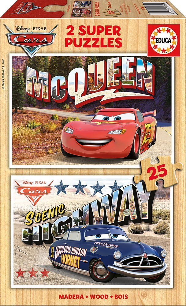 2 Holzpuzzles - Cars