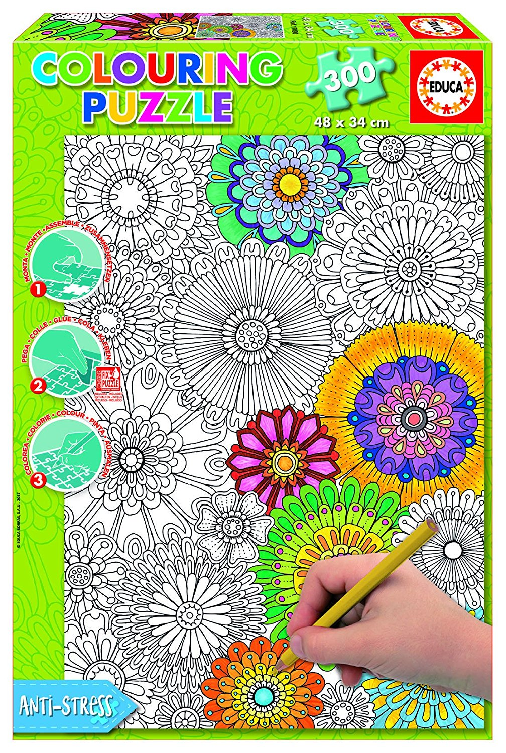 educa-colouring-puzzle-schone-bluten-300-teile-puzzle-educa-17090