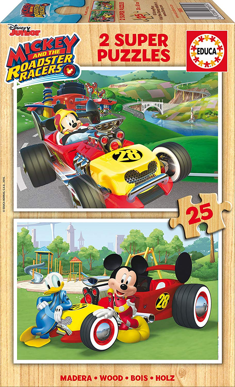 educa-2-holzpuzzles-mickey-and-the-roadster-racers-25-teile-puzzle-educa-17234