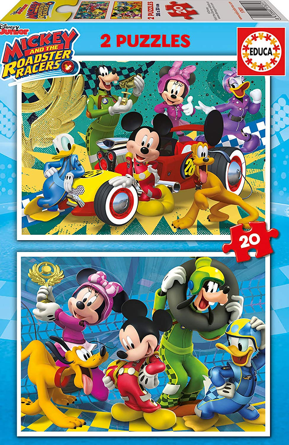 educa-2-puzzles-mickey-the-roadster-racers-20-teile-puzzle-educa-17631