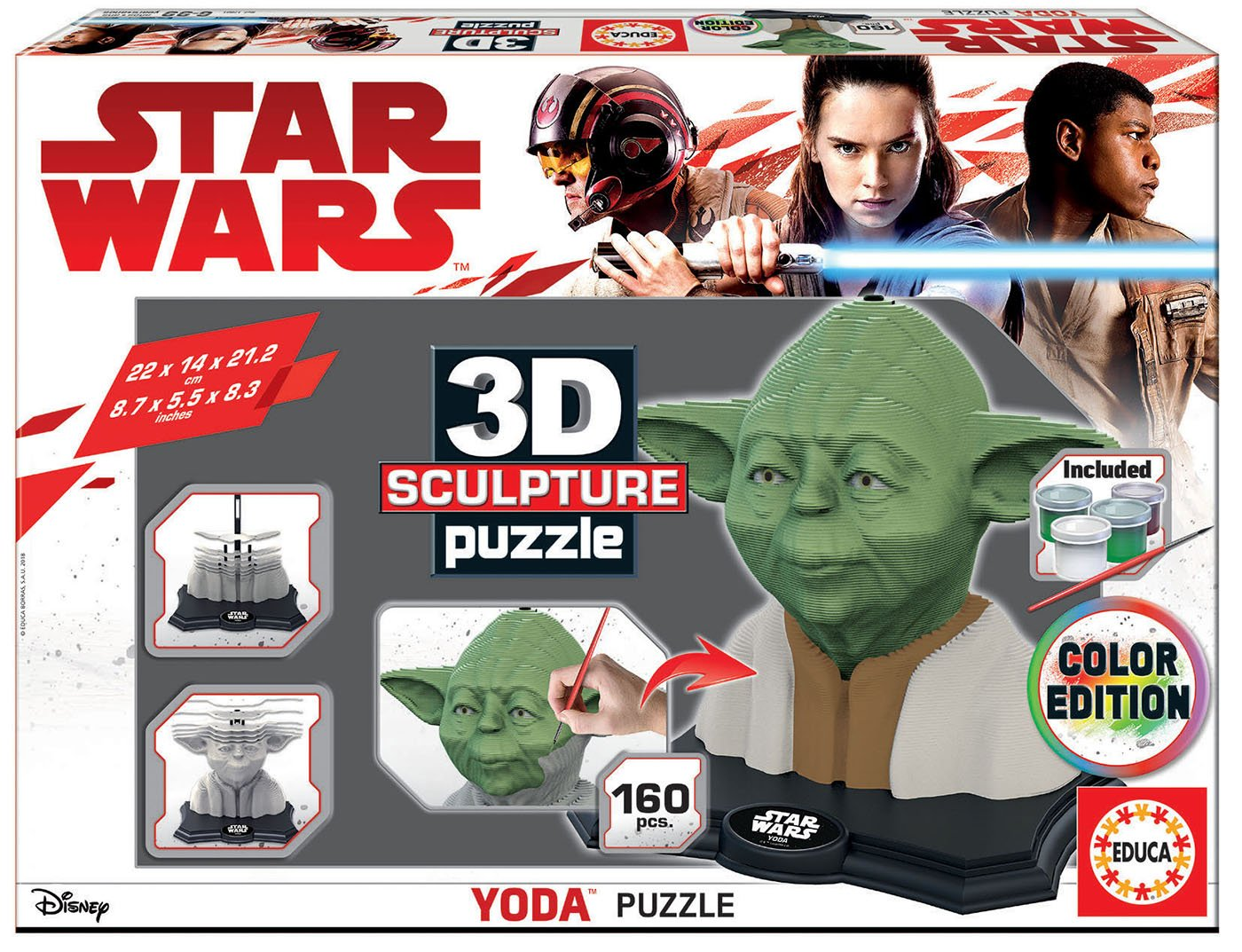 educa-3d-puzzle-sculpture-star-wars-yoda-160-teile-puzzle-educa-17801