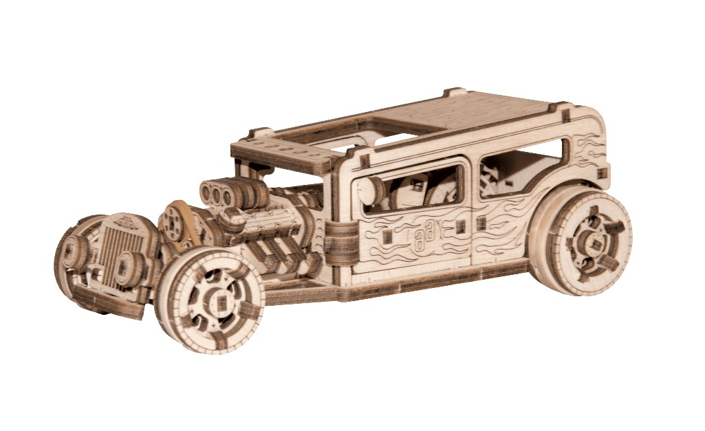 wooden-city-3d-holzpuzzle-hot-rod-141-teile-puzzle-wooden-city-wr339-8701