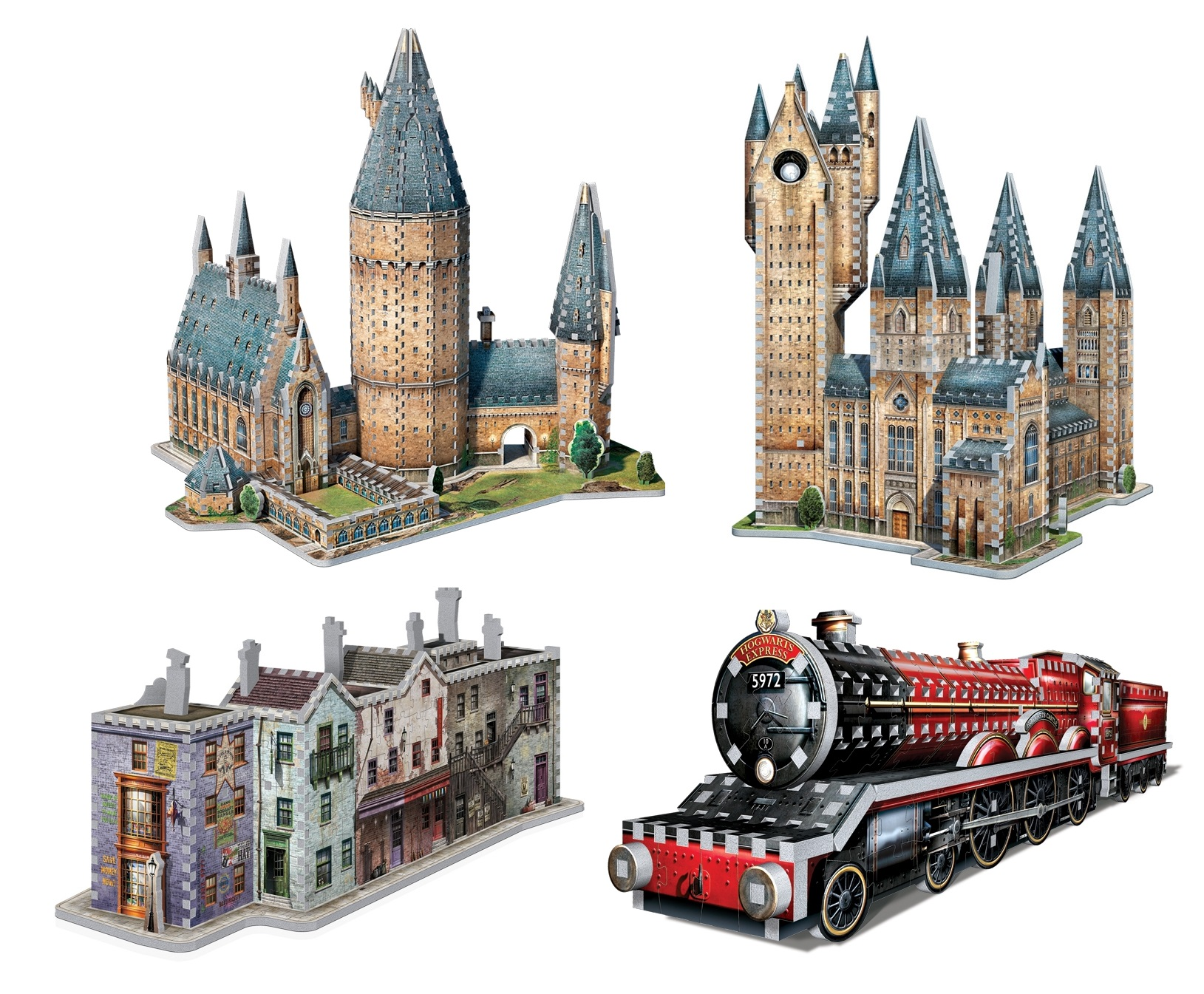 4 3D Puzzles - Set Harry Potter