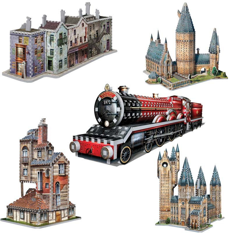5 3D Puzzles - Set Harry Potter