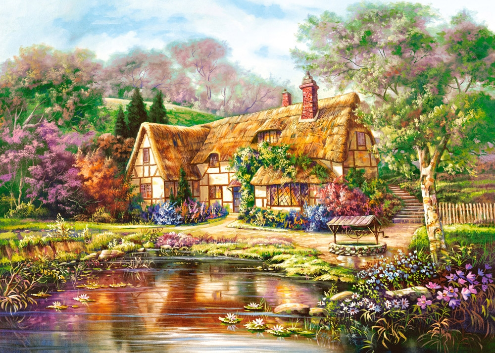 castorland-twilight-at-woodgreen-pond-3000-teile-puzzle-castorland-300365