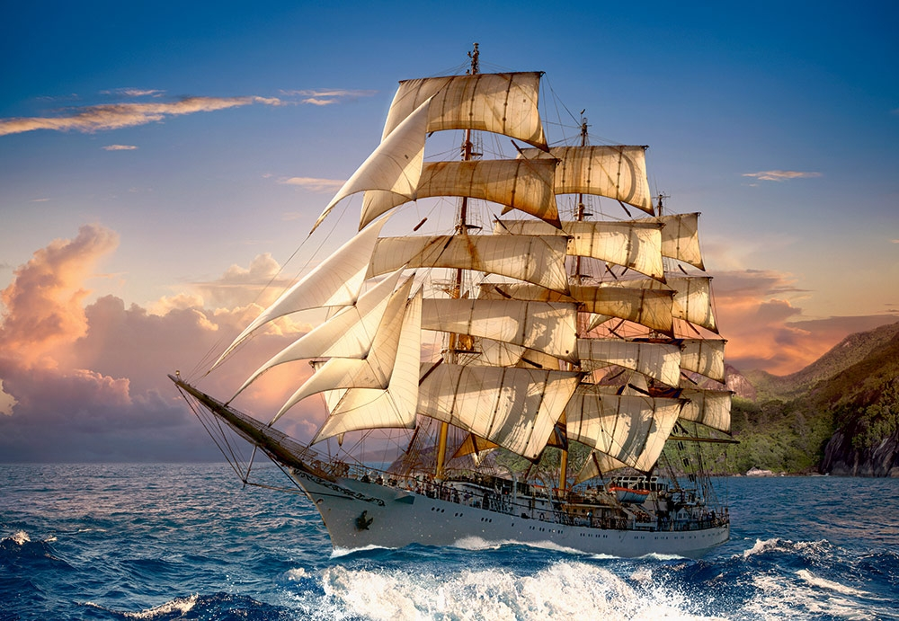castorland-sailing-at-sunset-1500-teile-puzzle-castorland-151431