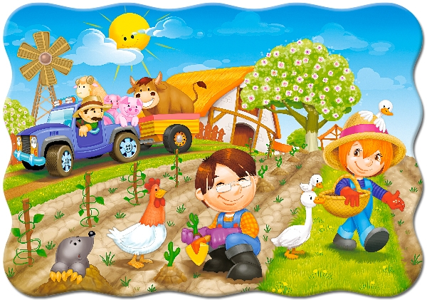 Castorland A Day on the Farm 30 Teile Puzzle Castorland-03563
