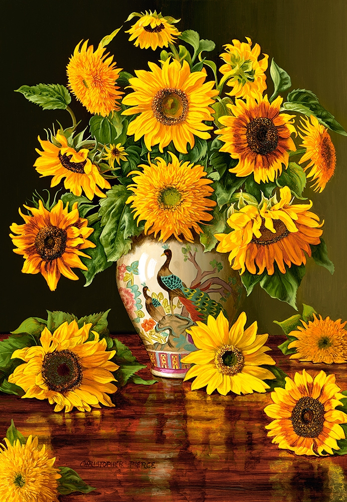 castorland-sunflowers-in-a-peacock-vase-1000-teile-puzzle-castorland-103843