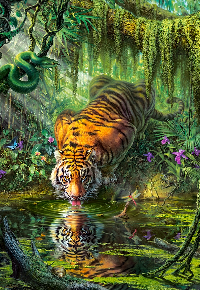 castorland-tiger-in-the-jungle-1000-teile-puzzle-castorland-103935