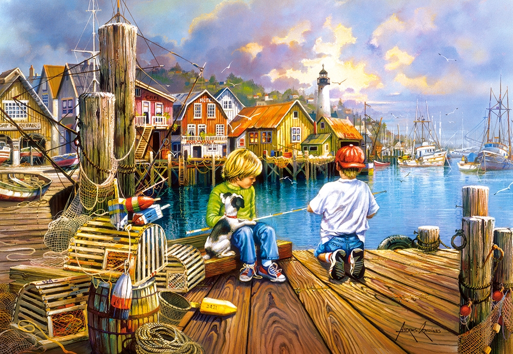 castorland-at-the-dock-1000-teile-puzzle-castorland-104192