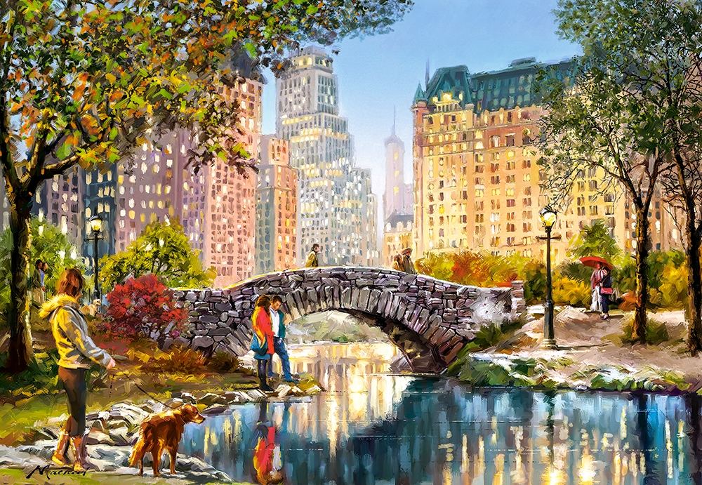castorland-evening-walk-through-central-park-1000-teile-puzzle-castorland-104376