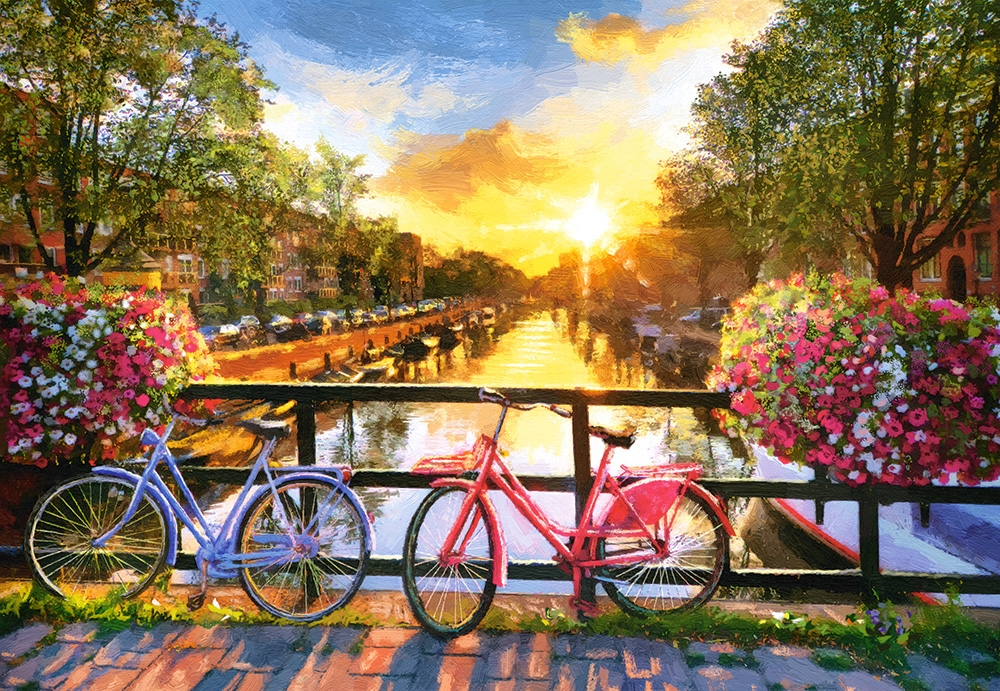 castorland-picturesque-amsterdam-with-bicycles-1000-teile-puzzle-castorland-104536