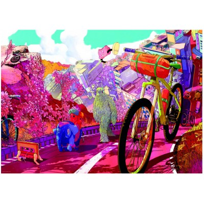 Heye The Ride Journal: Tour in Pink 1000 Teile Puzzle Heye-29677