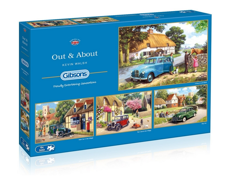Gibsons 4 Puzzles - Kevin Walsh: Out and About 500 Teile Puzzle Gibsons-G5034