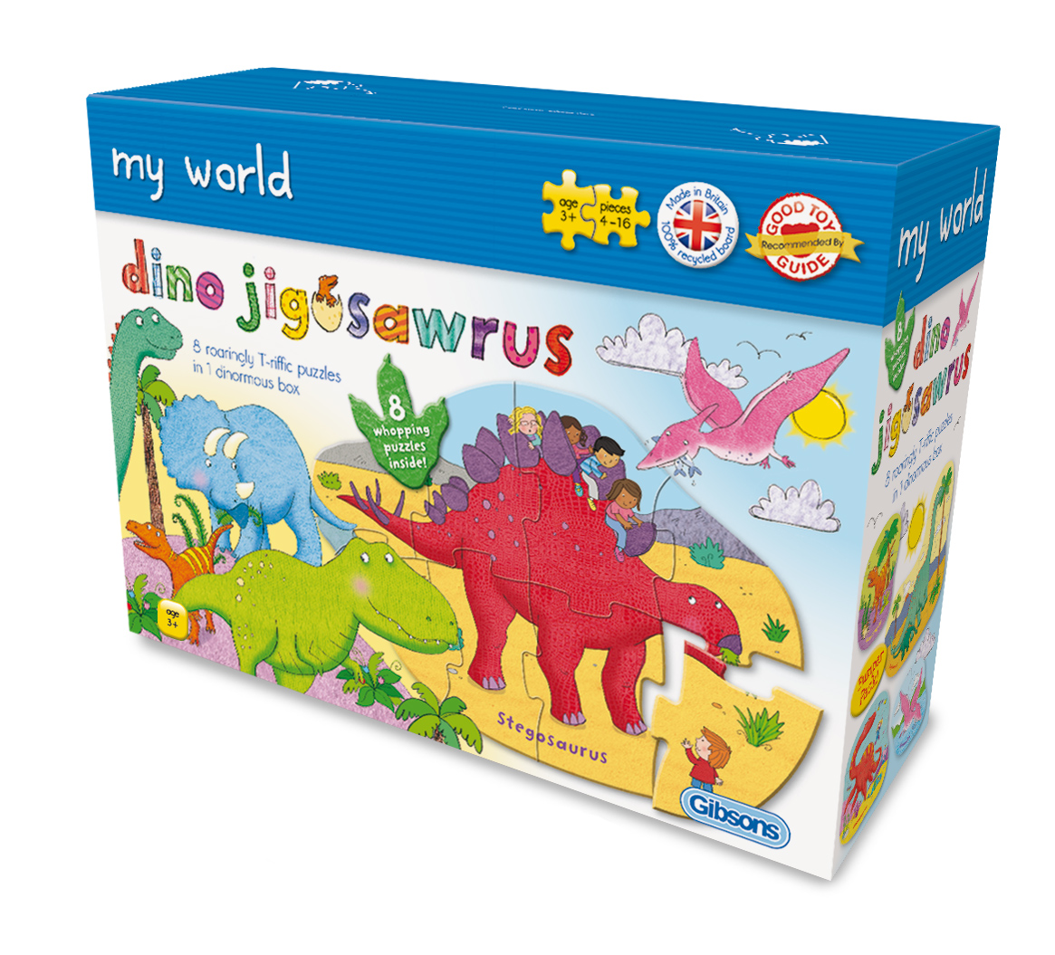 Gibsons 8 Puzzles - Dino Jigosawrus 4 Teile Puzzle Gibsons-G1027