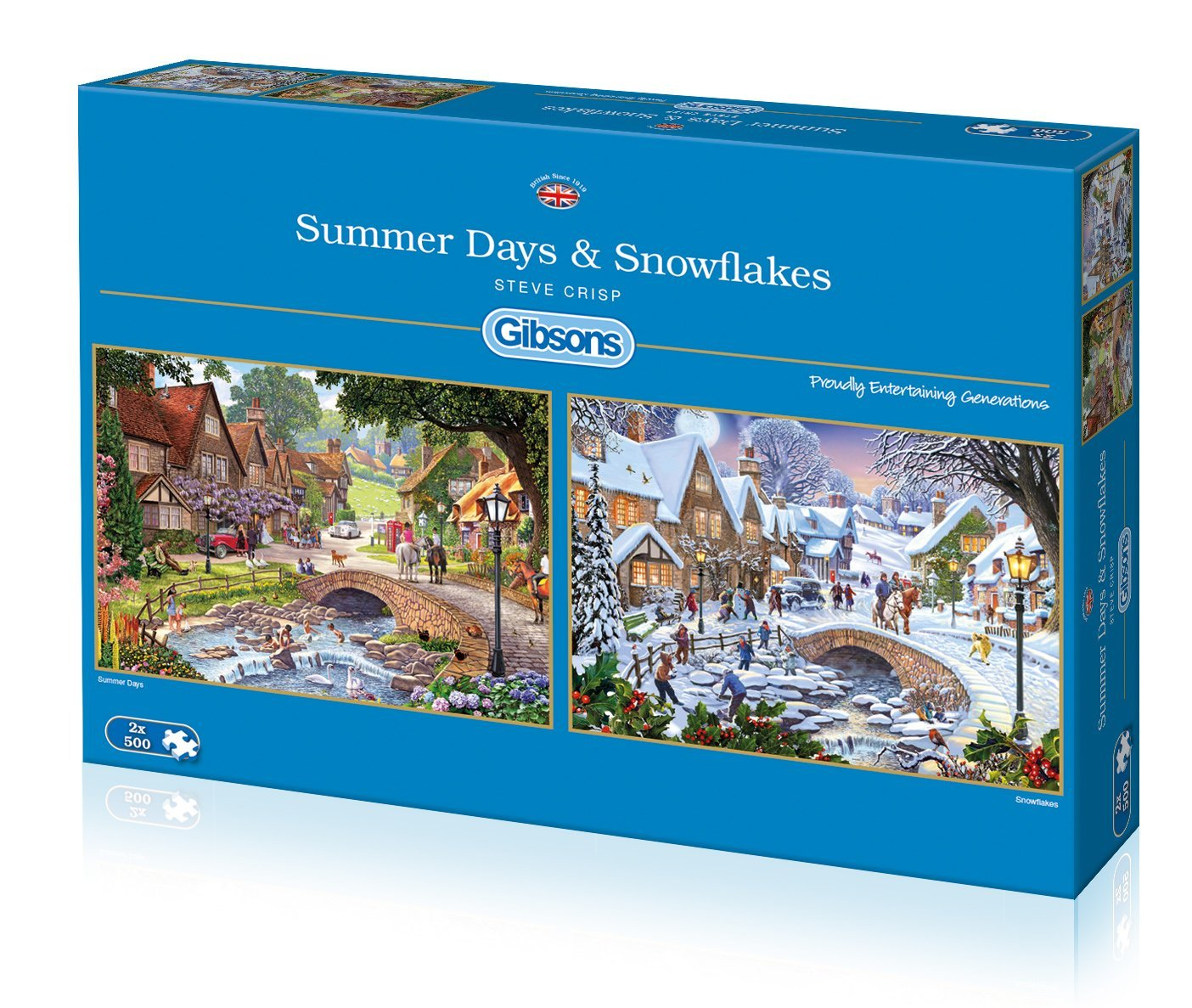 gibsons-2-puzzles-steve-crisp-summer-days-snowflakes-500-teile-puzzle-gibsons-g5045