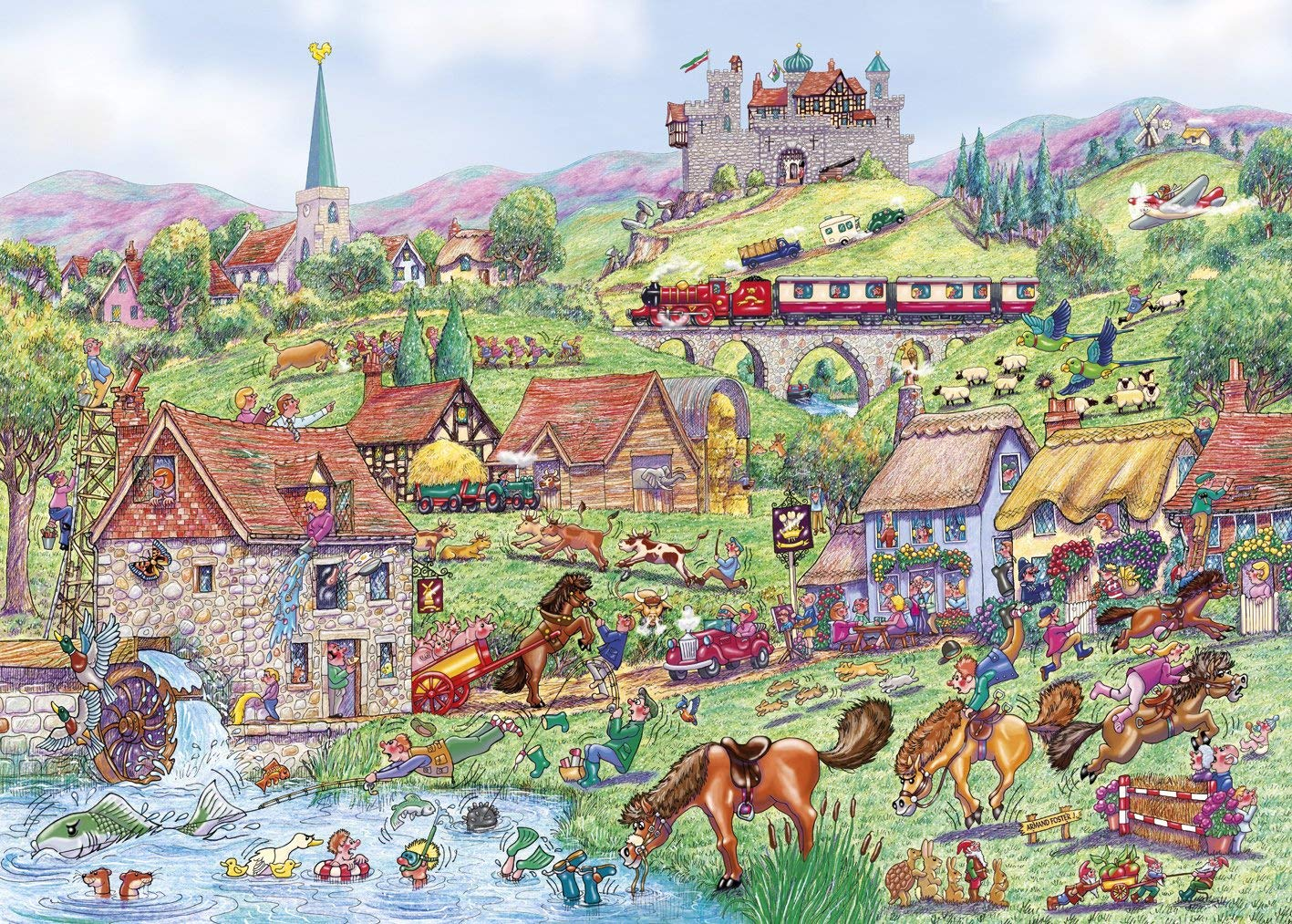 gibsons-horsing-1000-teile-puzzle-gibsons-g6235