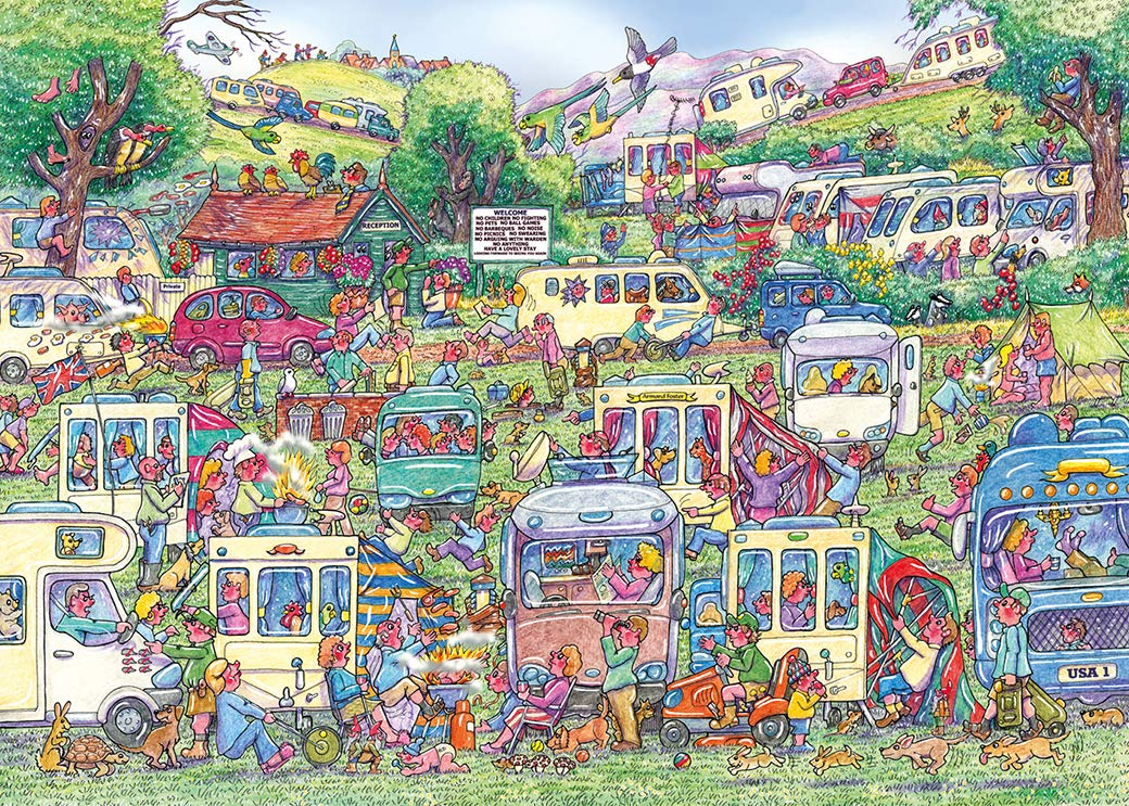 gibsons-armand-foster-caravan-chaos-1000-teile-puzzle-gibsons-g6258